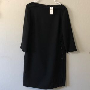 Black boat new dress with 3/4 sleeves